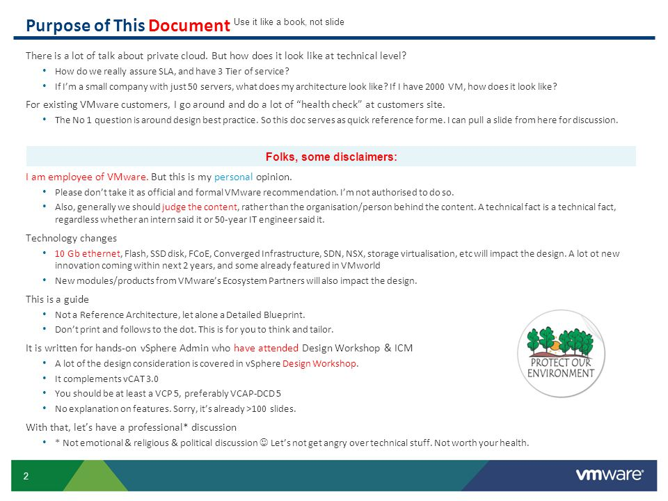 53 ESXi Host: IO & Management IO requirements will increase in 2014.