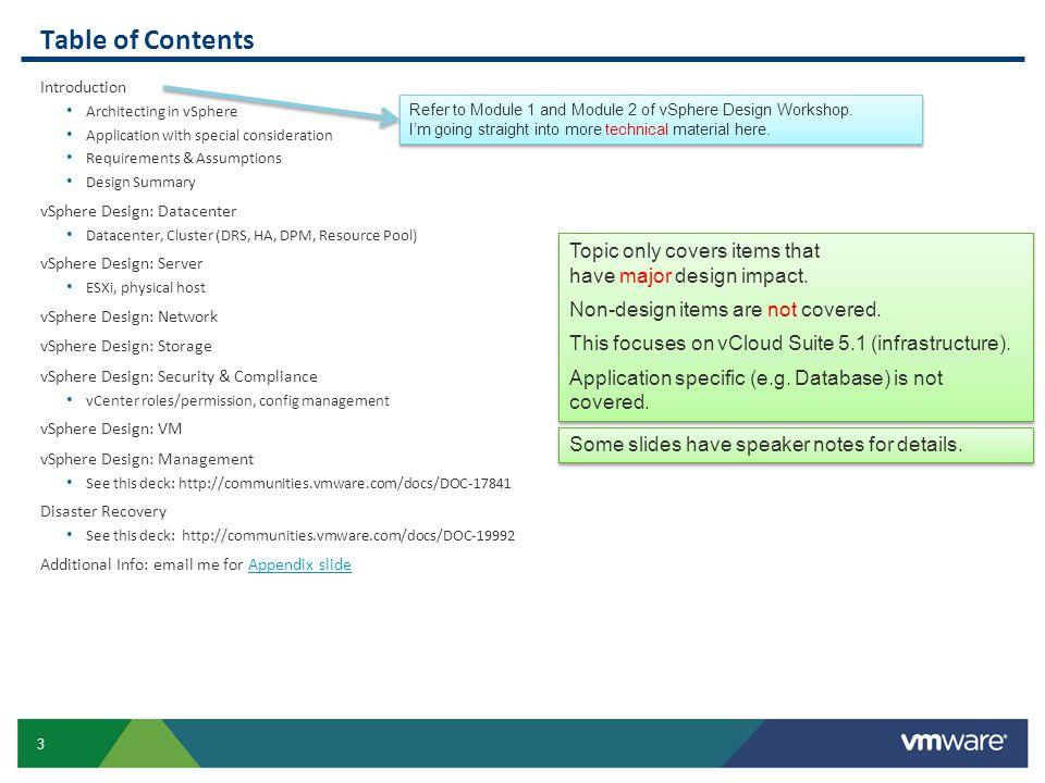 54 Large: Sample ESXi host specification Estimated Hardware Cost: US$ 10K per ESXi.
