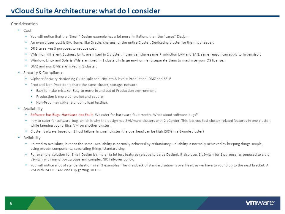17 Data Center Design Data Center, DR, Cluster, Resource Pool