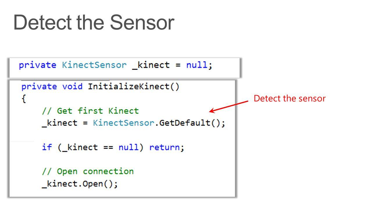 Detect the sensor