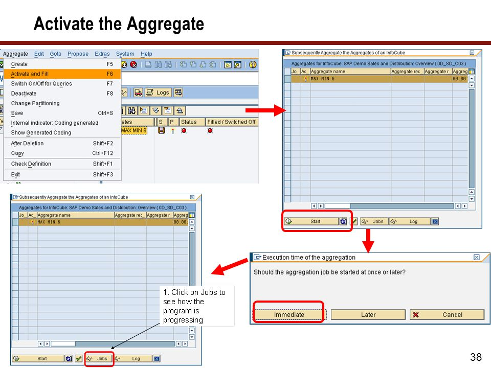 Activate the Aggregate The process of turning 'on' the aggregates is simple 38