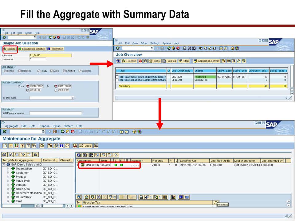 Fill the Aggregate with Summary Data