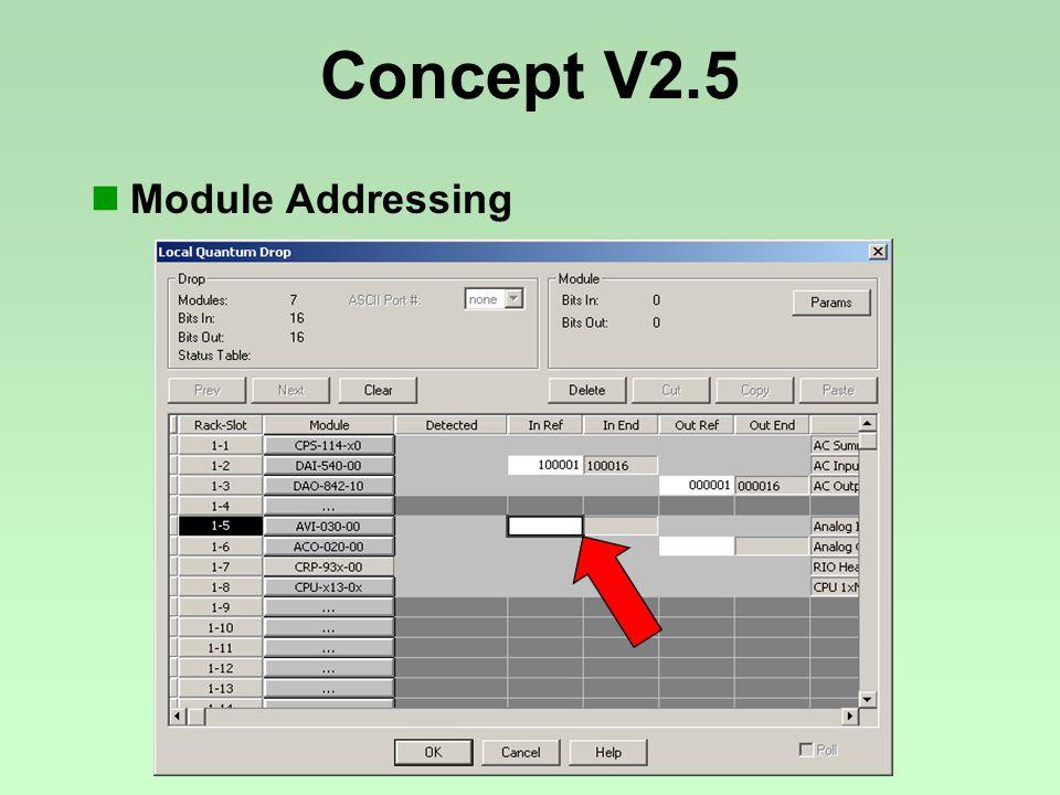 Concept V2.5 Module Addressing