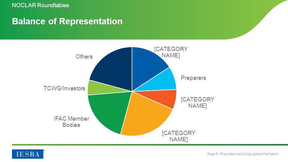 Page 6 | Proprietary and Copyrighted Information Balance of Representation NOCLAR Roundtables