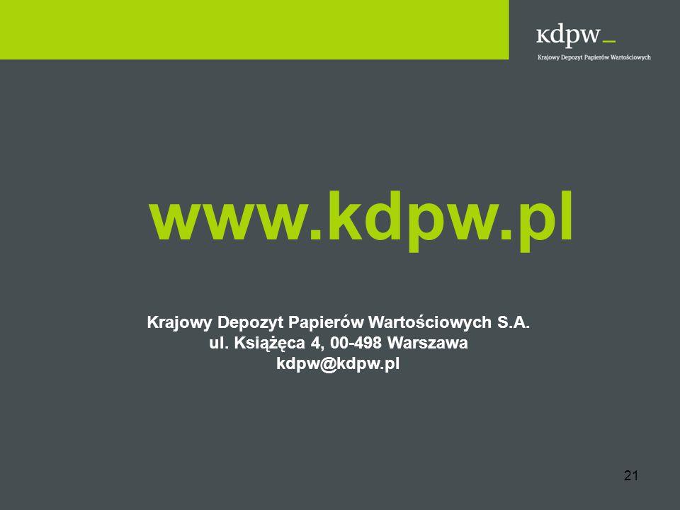 www.kdpw.pl Krajowy Depozyt Papierów Wartościowych S.A.