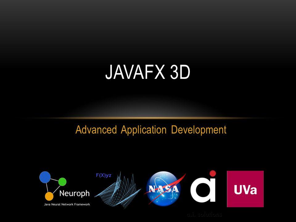 Advanced Application Development JAVAFX 3D