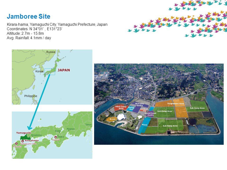 Kirara-hama, Yamaguchi City, Yamaguchi Prefecture, Japan Coordinates: N 34°01', E131°23' Altitude: 2.7m - 15.8m Avg.
