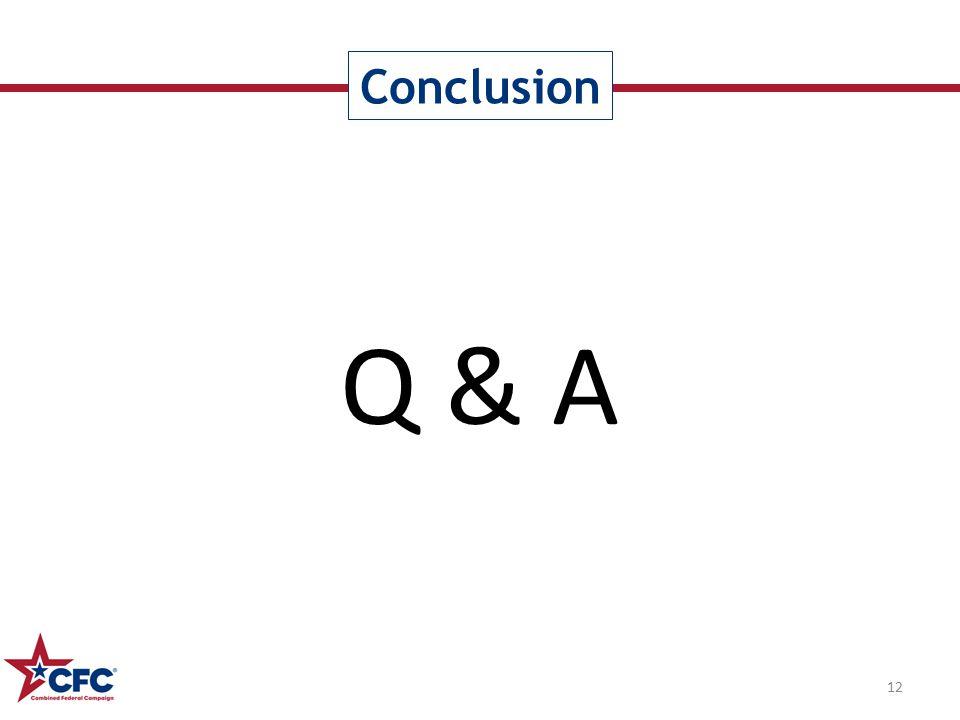 Q & A Conclusion 12