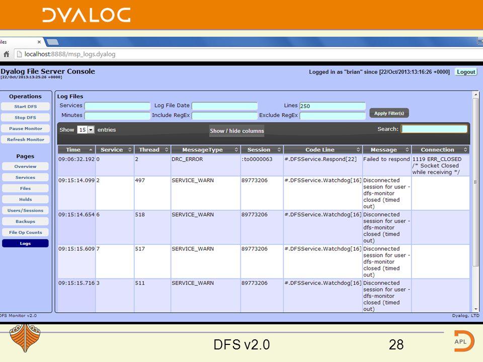 Monitor Screen Shots DFS v2.028