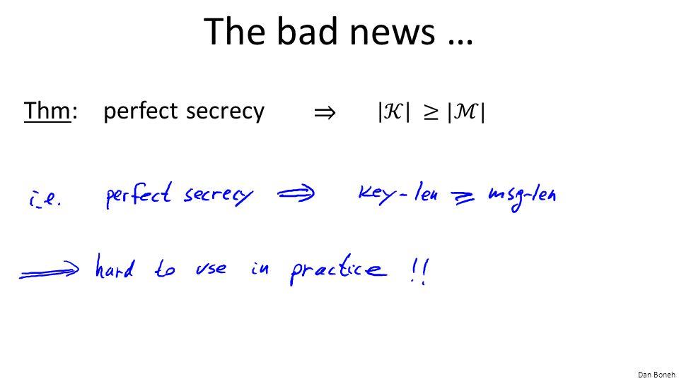 Dan Boneh The bad news …