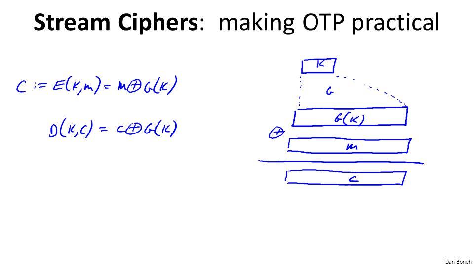 Dan Boneh Stream Ciphers: making OTP practical