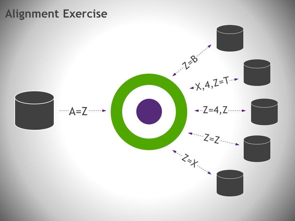 A=Z Z=B X,4,Z=T Z=4,Z Z=Z Z=X Alignment Exercise