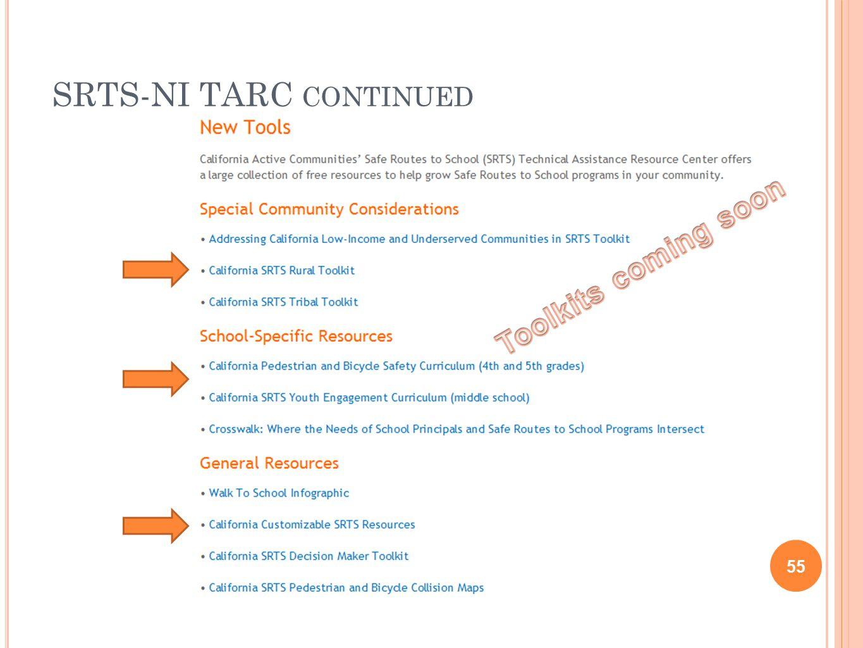 SRTS-NI TARC CONTINUED 55