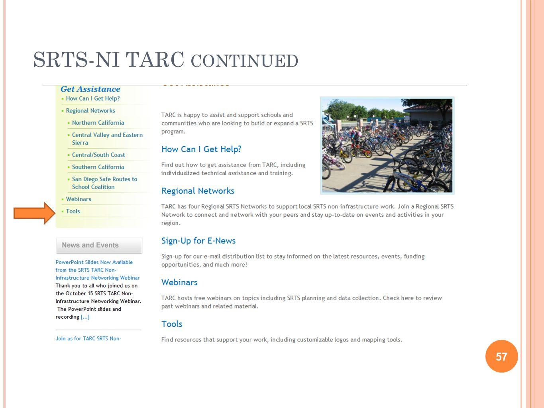 SRTS-NI TARC CONTINUED 57