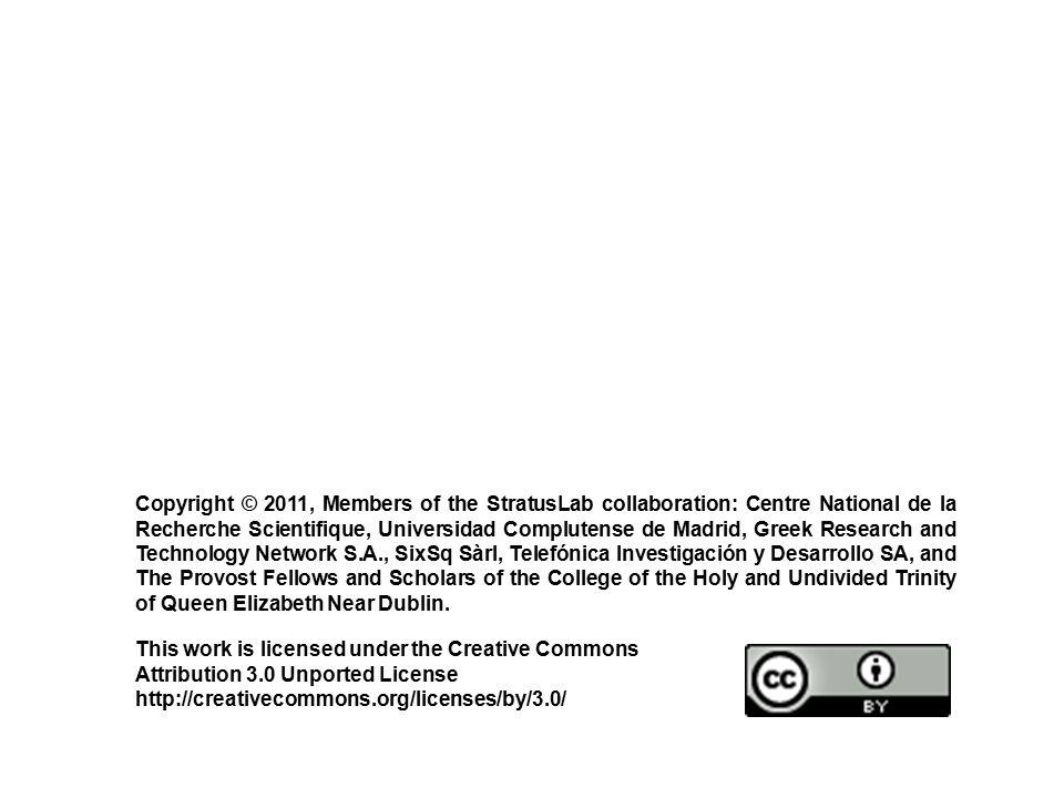 Copyright © 2011, Members of the StratusLab collaboration: Centre National de la Recherche Scientifique, Universidad Complutense de Madrid, Greek Rese