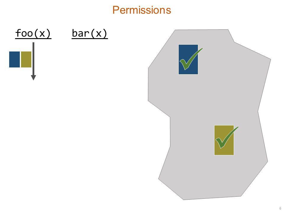 6 Permissions foo(x)bar(x)