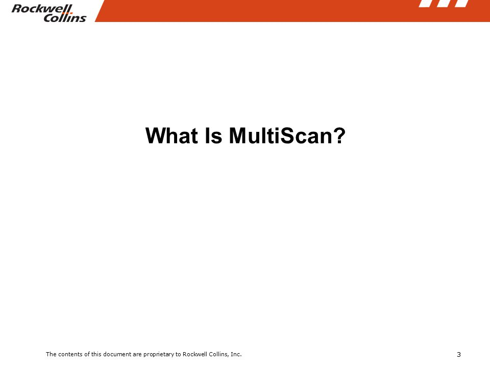 3 What Is MultiScan