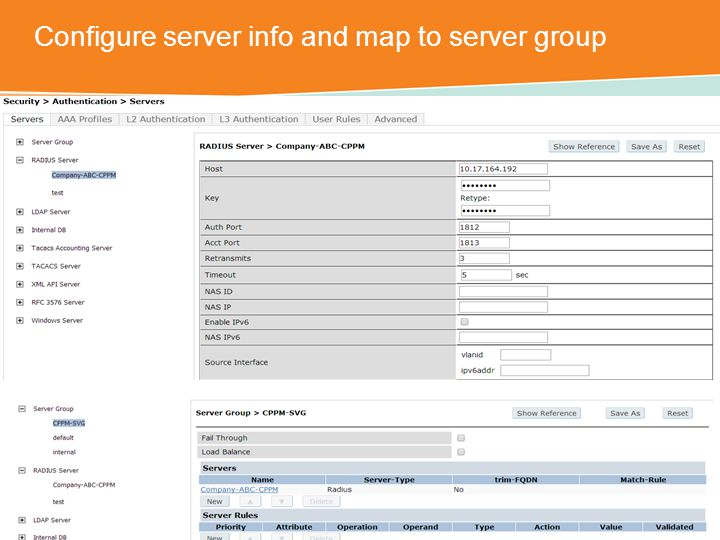 Configure server info and map to server group CONFIDENTIAL © Copyright 2014.