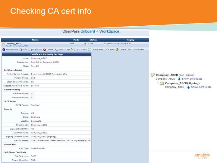 Configuring Controller – SSID profile CONFIDENTIAL © Copyright 2014.