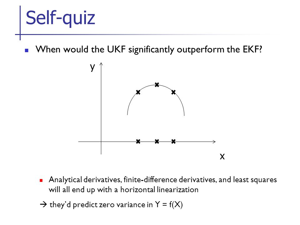When would the UKF significantly outperform the EKF.