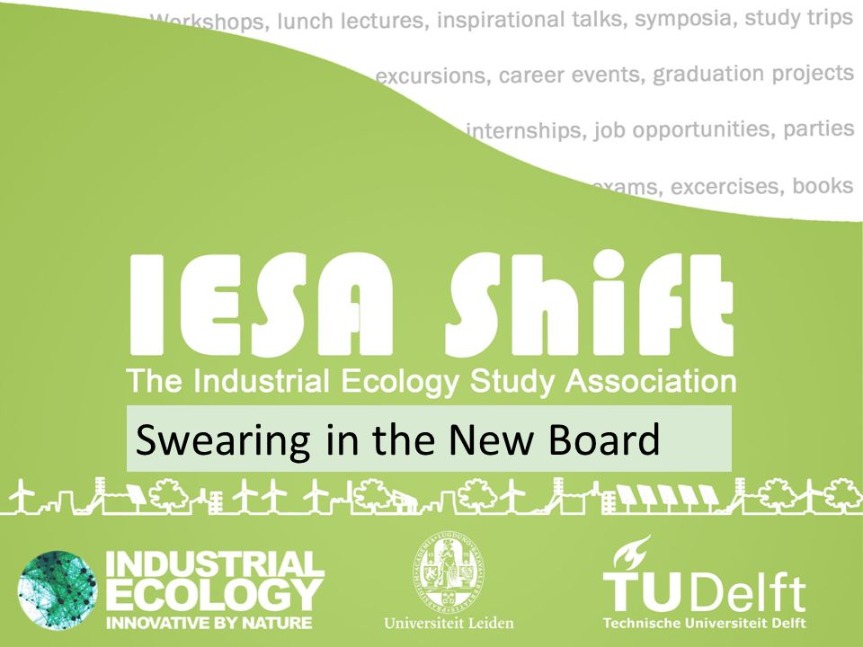 Swearing in the New Board