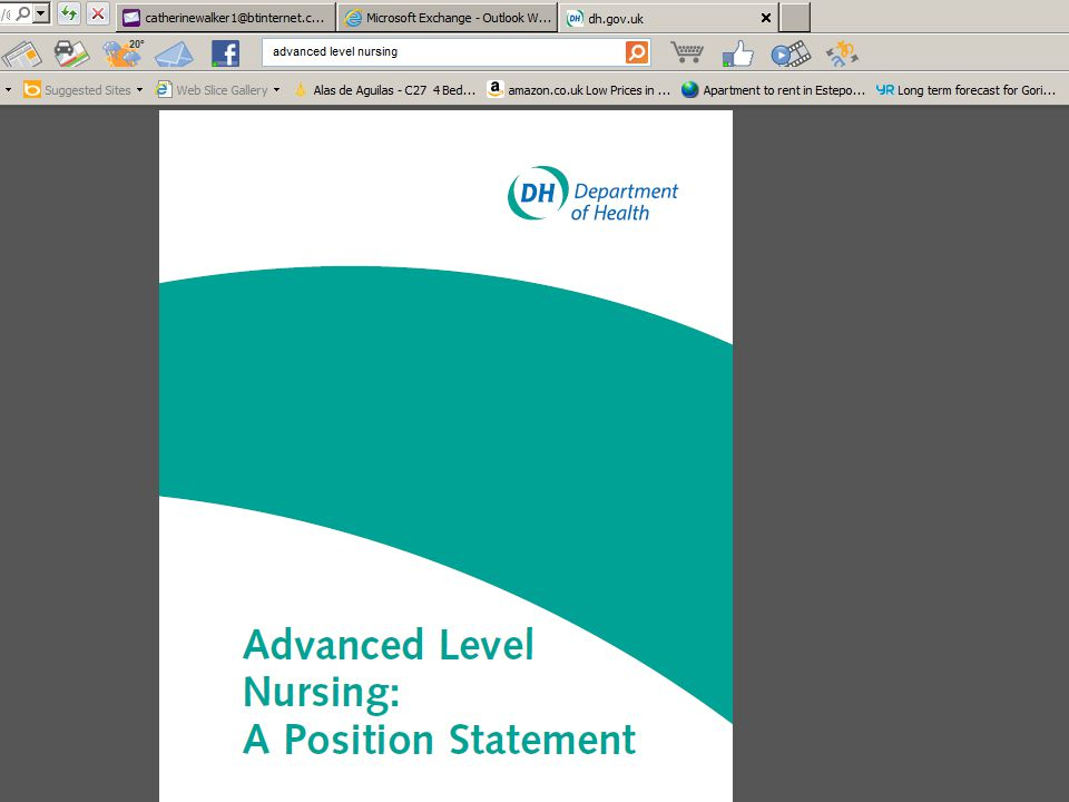 00 Month 2006Thames Valley University Importantly, staff working at 'advanced' levels in 'non-clinical' situations should have developed their skills and theoretical knowledge to similar high standards and should be empowered to make high-level decisions of similar complexity and responsibility to those in 'clinical' settings.