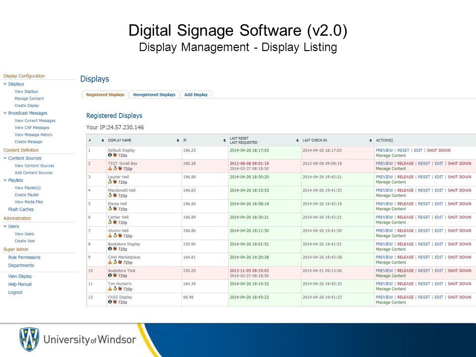 Digital Signage Software (v2.0) Content Display - How it works.