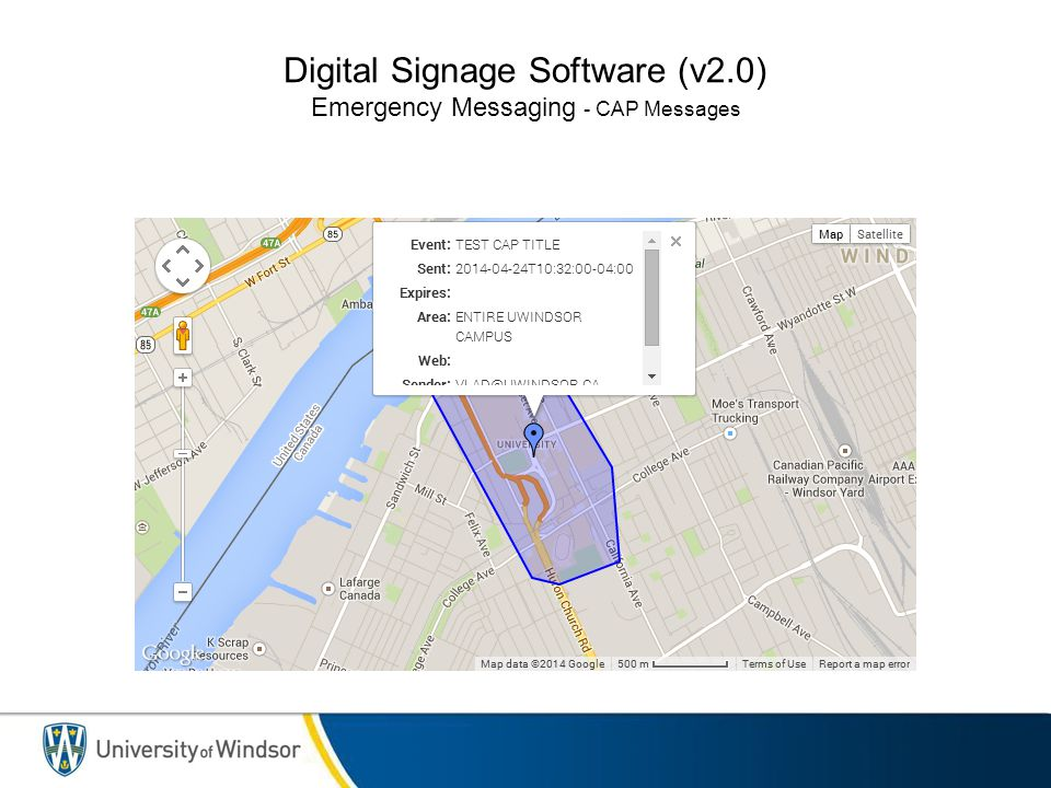 Digital Signage Software (v2.0) Emergency Messaging - CAP Messages