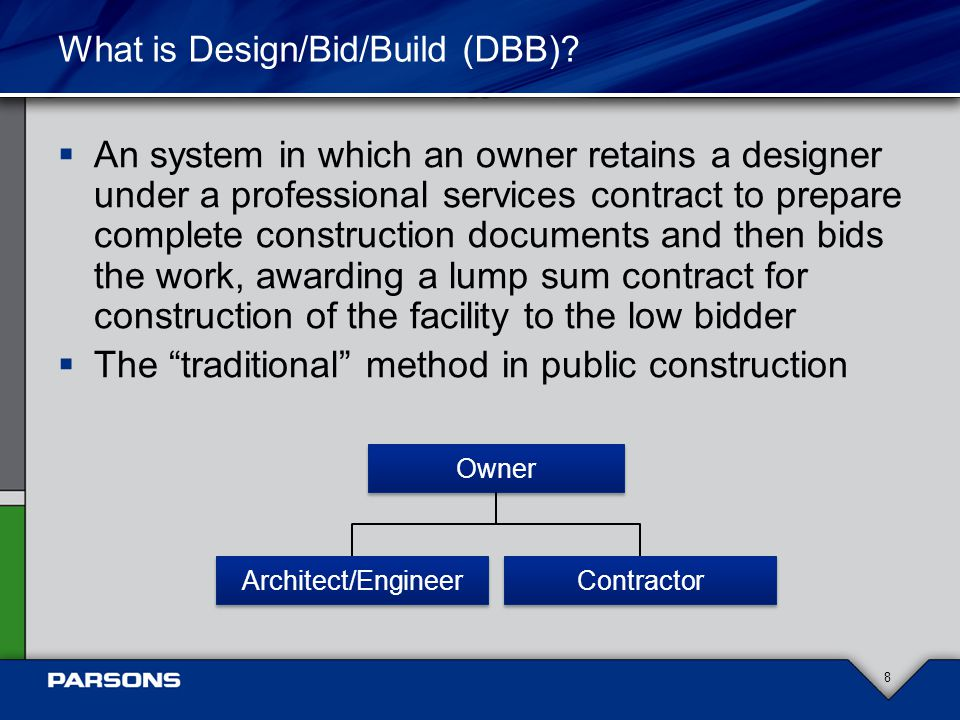 What is Design/Bid/Build (DBB).