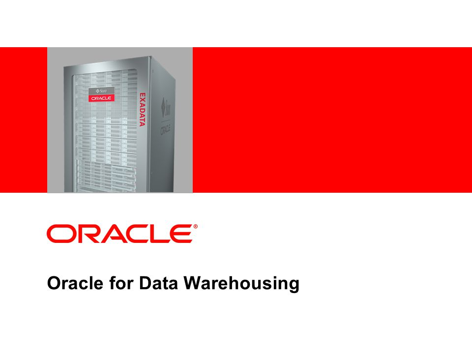 Complete Family Of Database Machines For OLTP, Data Warehousing & Consolidated Workloads Quarter, Half, Full and Multi-Racks Full and Multi-Racks Oracle Exadata X2-8 Oracle Exadata X2-2