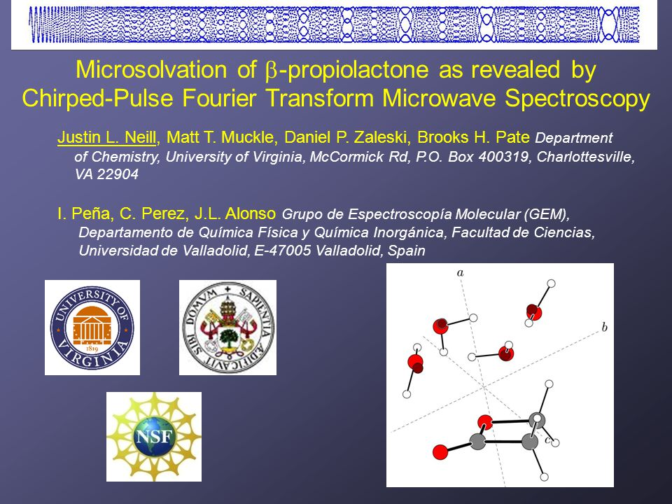 High-Resolution Spectroscopy of Solvated Organic Molecules (H 2 O) 3-6 : Saykally group (THz tunneling) C.J.
