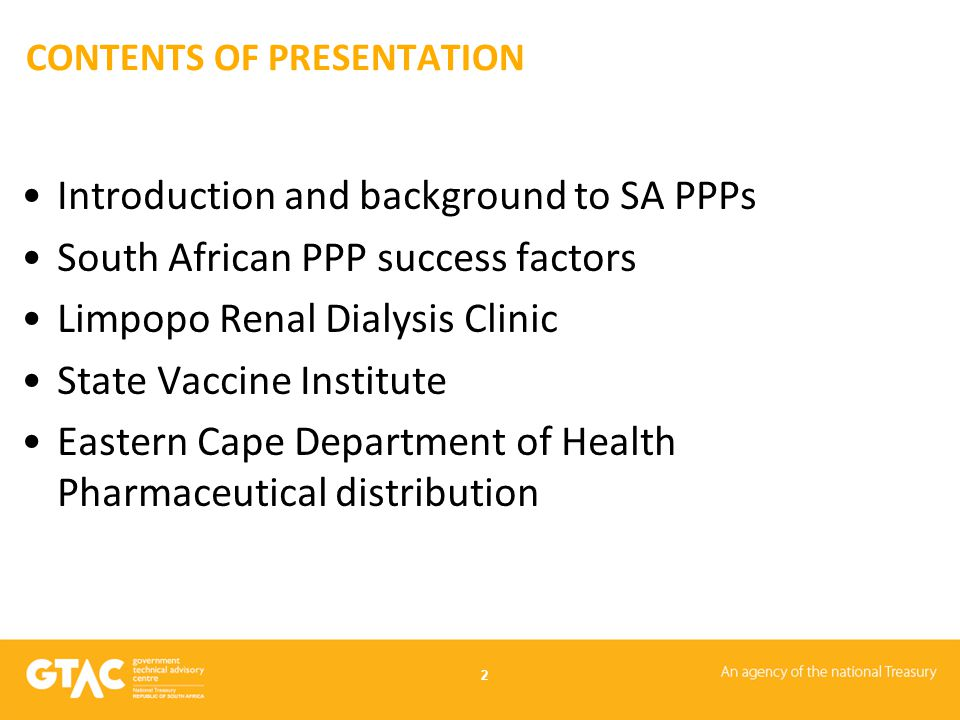 EXAMPLE OF A PROJECT THAT DIDN'T WORK OUT AS PLANNED Eastern Cape Department of Health –Pharmaceutical distribution Registered in 2004 because over a third of all pharmaceuticals failed to arrive at the province's hospitals and clinics Province operated two pharmaceutical depots, one in PE and one in Mthatha Delivery systems was local delivery service in PE and taxis elsewhere Hospitals & clinics ordered drugs from depots by facsimile; many were lost Because temperature of drugs not catered for many batches spoiled Feasibility study recommended experienced delivery service provider for both depots Preferred bidder proposed mobile phone drug ordering system, tied to province-wide IT system & fleet of proper vehicles capable of carrying at required temperature & delivery validation Change of Department of Health chief at eleventh hour killed the project 13