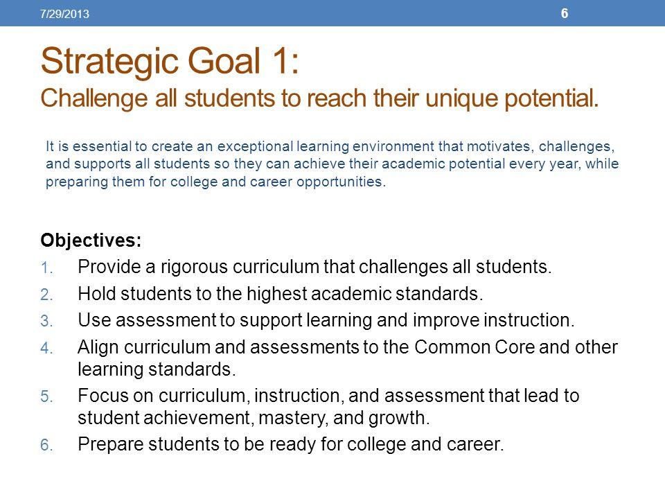 Strategic Goal 2: Create a school environment conducive for learning.
