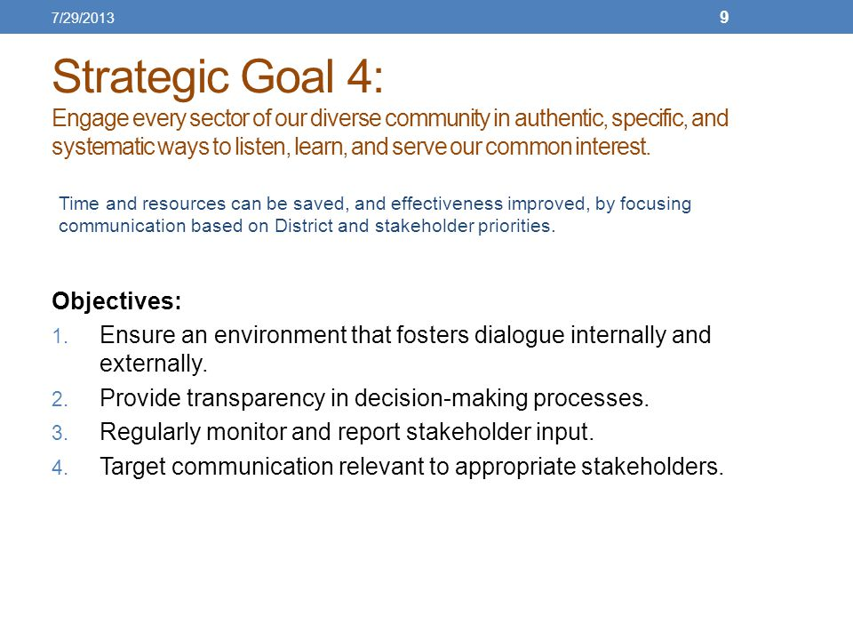 Strategic Goal 5: Create a culture for continuous quality improvement and accountability for District programming and staff.