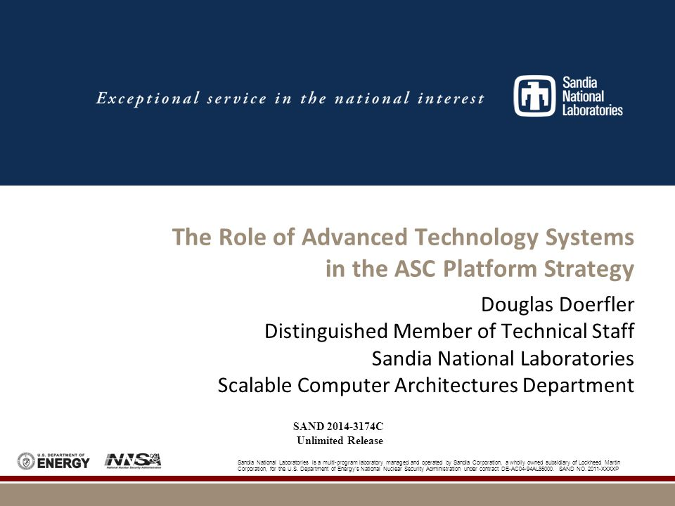 2 Topics  ASC ATS Computing Strategy  Partnerships & the Joint Procurement Process  Trinity Project Status  Advanced Architecture Test Bed Project