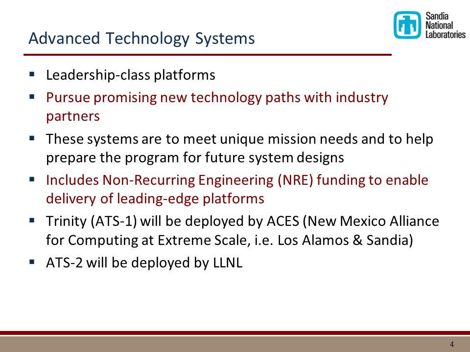 Advanced Technology Systems (ATS) Fiscal Year '12 '13 '14'15'16 '17 Use Retire '19 '18 '20 Commodity Technology Systems (CTS) Dev.
