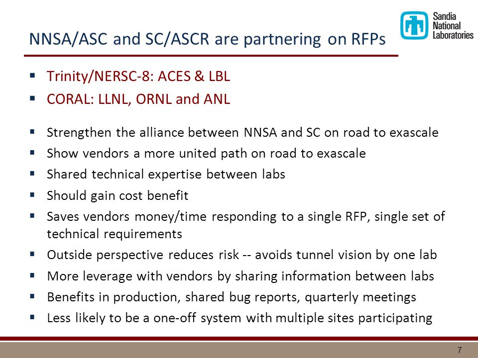 8 Why is NNSA/ASC and SC/ASCR collaborating.