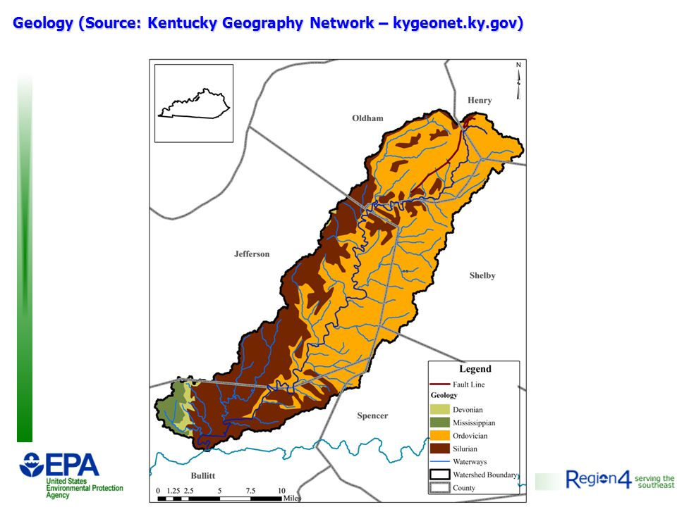Geology (Source: Kentucky Geography Network – kygeonet.ky.gov)