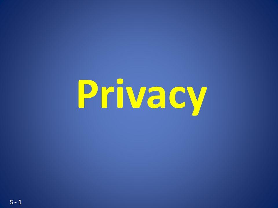 S - 1 Privacy