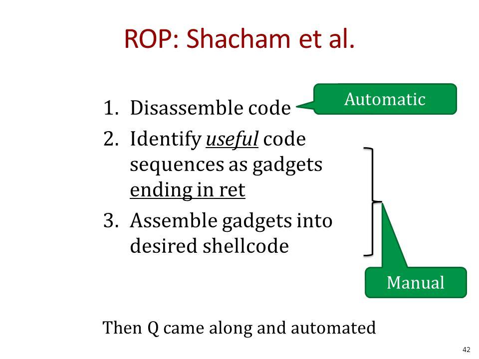 ROP: Shacham et al.