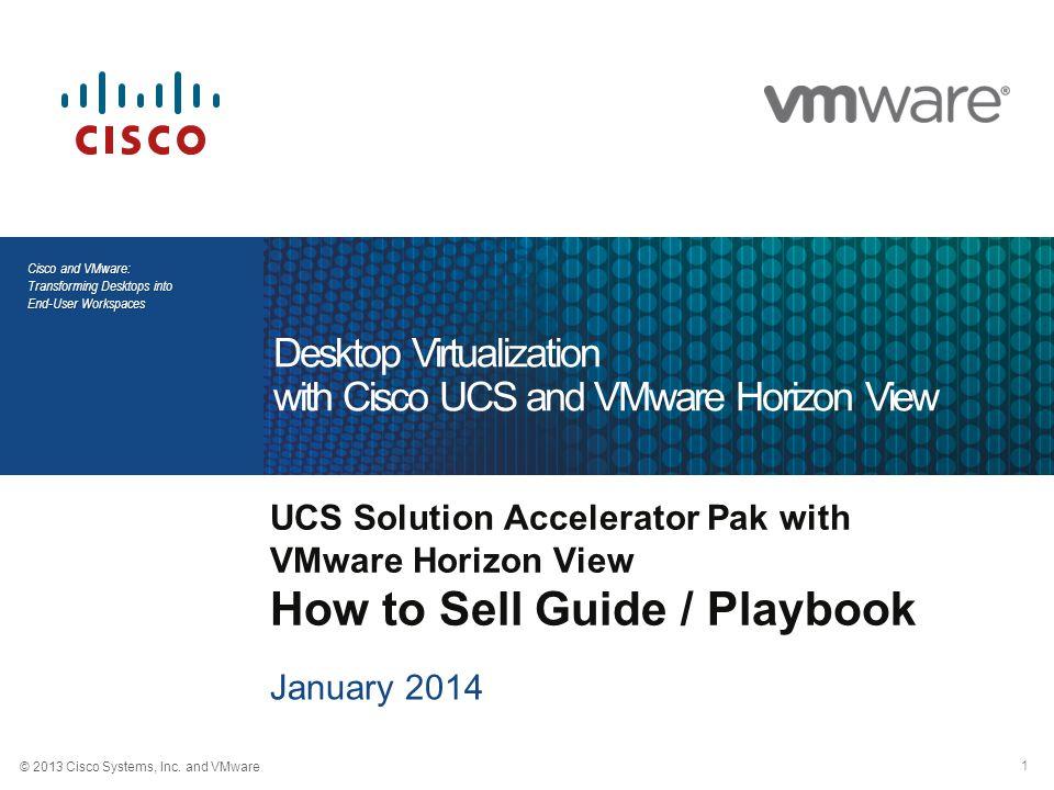 2 © 2013 Cisco and VMware Cisco and VMware: Transforming Desktops into End-User Workspaces Agenda 1.What is VDI / VMware Horizon View 2.