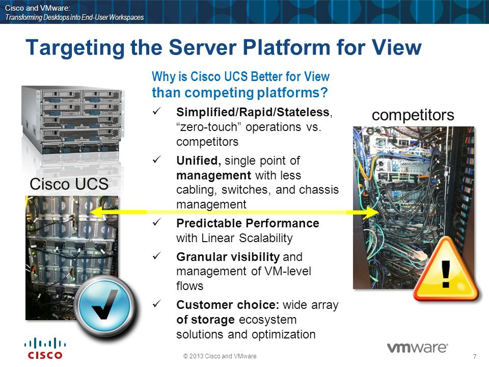 18 © 2013 Cisco and VMware Cisco and VMware: Transforming Desktops into End-User Workspaces Thank You!