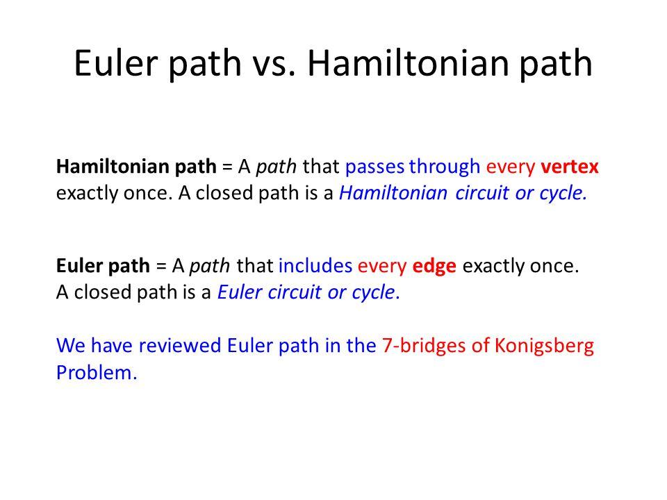 Euler path vs.