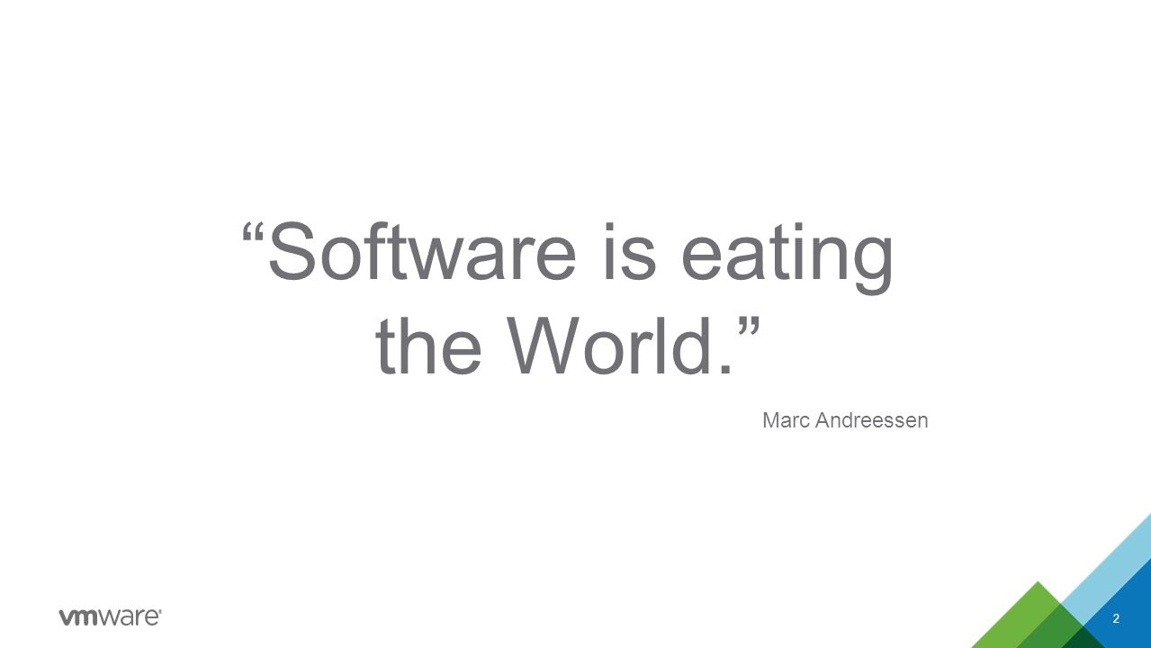 Software is eating the World. Marc Andreessen 2