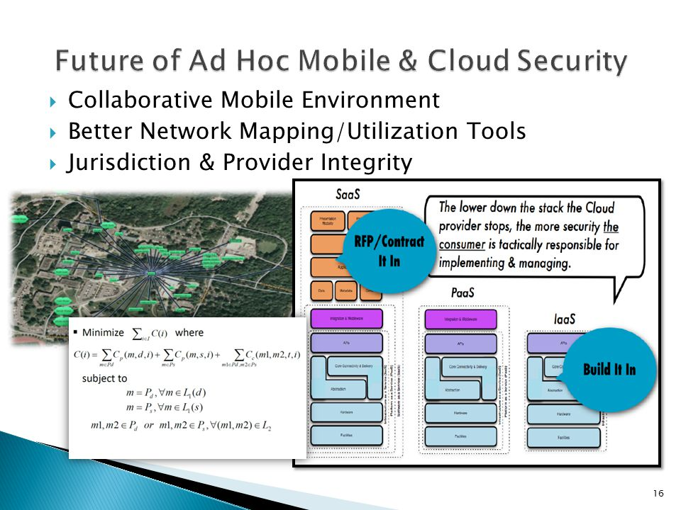  Collaborative Mobile Environment  Better Network Mapping/Utilization Tools  Jurisdiction & Provider Integrity 16