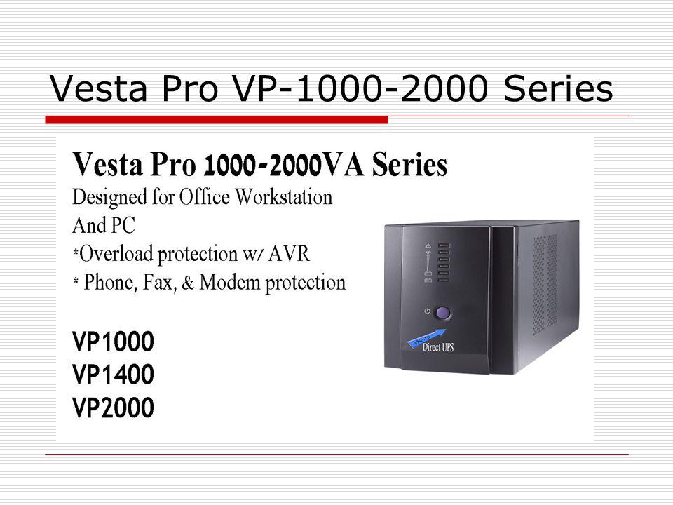 Vesta Pro VP-600/800 VA Series