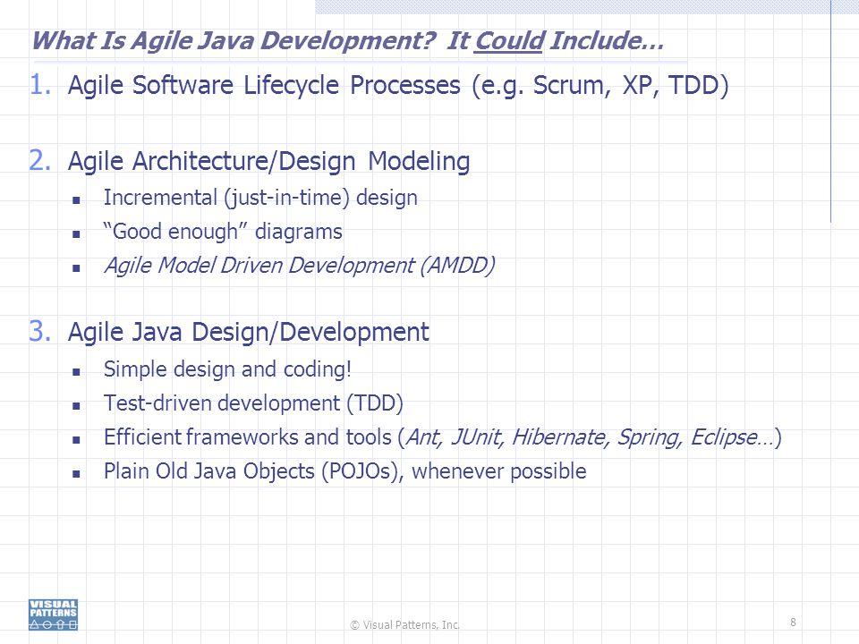 © Visual Patterns, Inc.8 What Is Agile Java Development.