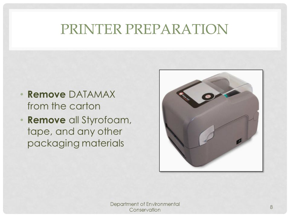 UNINSTALL THE PRINTER Department of Environmental Conservation 39 Click Make sure the printer is turned OFF Click Your computer must RESTART for the settings to take effect