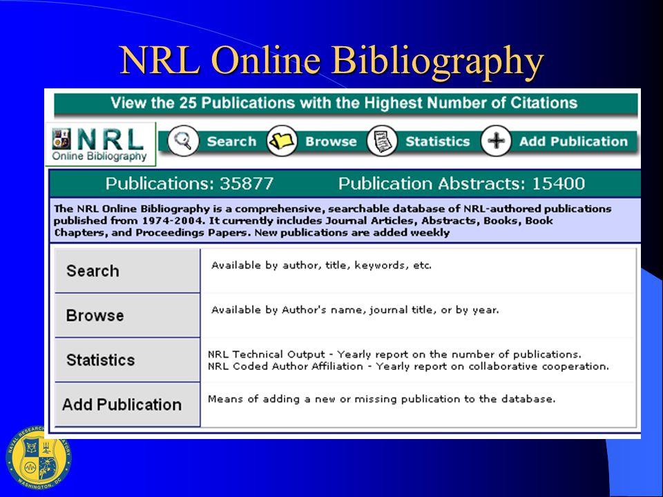 NRL Online Bibliography