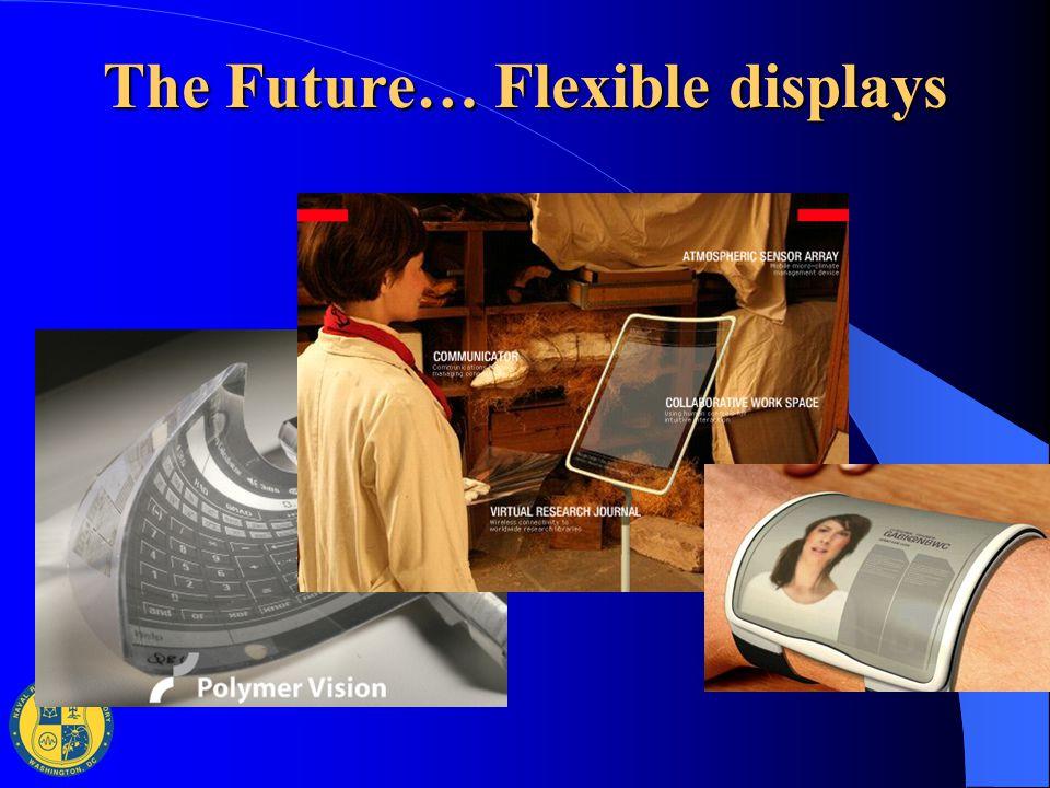 The Future… Flexible displays